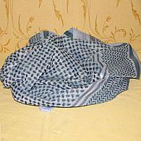 Арафатка шарф черно-голубая
