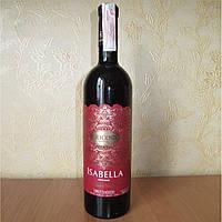 Красное вино полусладкое Изабелла Кружева 0.7л