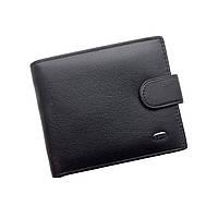 Мужской кошелек Dr. Bond Classic из натуральной кожи. Кожаное портмоне. Черный и коричневый цвет., фото 1