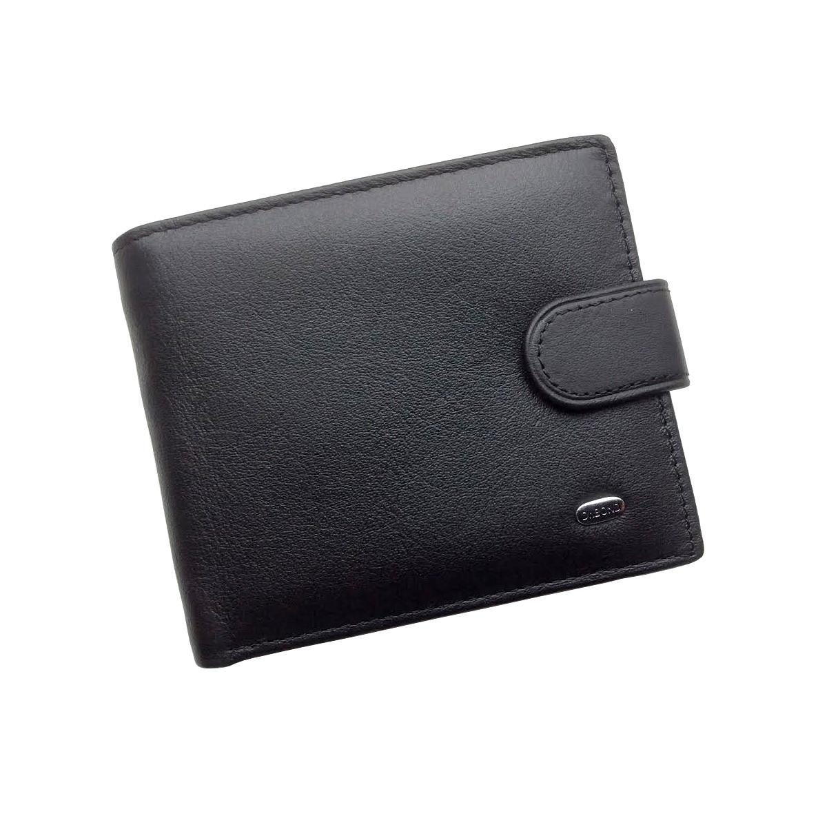 773047810de2 Мужской кошелек Dr. Bond Classic из натуральной кожи. Кожаное портмоне.  Черный и коричневый цвет.