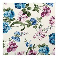 Ткань для штор с цветами синий