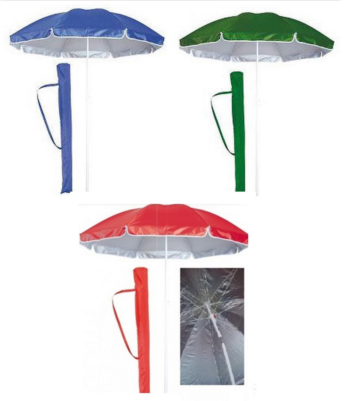 Пляжный зонт с наклоном 2,2 м Anti-UF