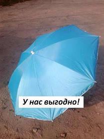 Пляжный зонт с наклоном 1,8 м с серебром голубой