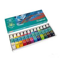Набор акриловых красок для дизайна ногтей Global Fashion, 12 цветов по 6 мл