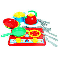 Детская кухня «Галинка 7» с посудой 2179 Технок