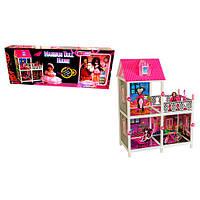 Домик для кукол 66901 MH, 77-41-100см, 2 этажа, кукла шарнирная 2шт, 26см, мебель