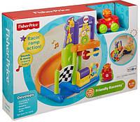 Игрушка для малышей Fisher-Price Трек для малышей Дружеский Рэйсер, Friendly Racers