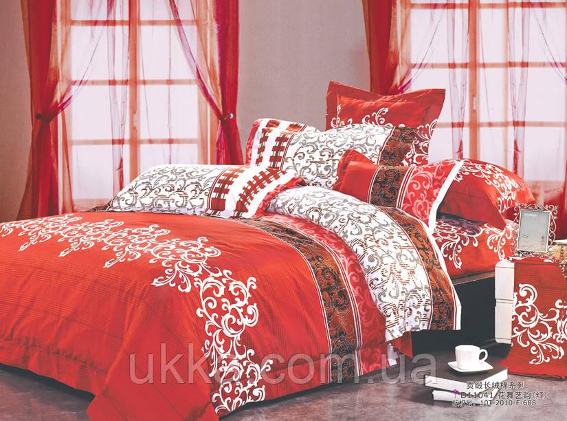 Полуторное постельное белье ранфорс Вилюта 8630 красный