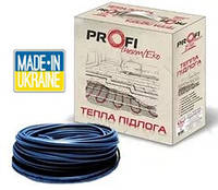 Двухжильный нагревательный кабель Profi Therm Eko–2 16,5 мощностью 2670 Вт, площадь обогрева 16,2 — 20,3 м²