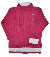 Кофта детская вязаная на молнии для девочек.размеры 4-8 лет