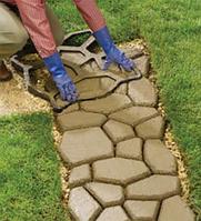 Форма для садовой дорожки, круглые камни, форма - трафарет садовых дорожек