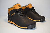 Зимние мужские ботинки Timberlend черные
