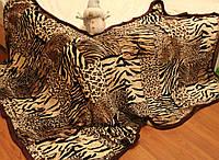 Покрывало плед со львом зебра