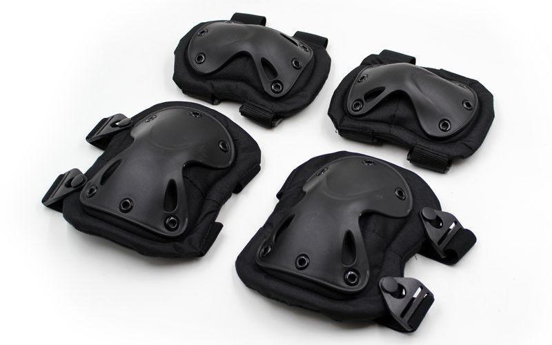 Защита тактическая наколенники, налокотники (ABS, полиэстер 600D, черный) - NEWDAY в Киеве