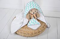 Полотенце с капюшоном для новорожденного Мятная свежесть