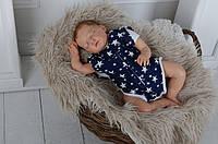 Бодик-пеленка для новорожденного Звезды 0-3мес