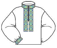 Дитяча сорочка заготовка для вишивки бісером, нитками