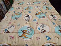 Одеяло стеганое чистая шерсть бязь ранфорс Бемби бежевое