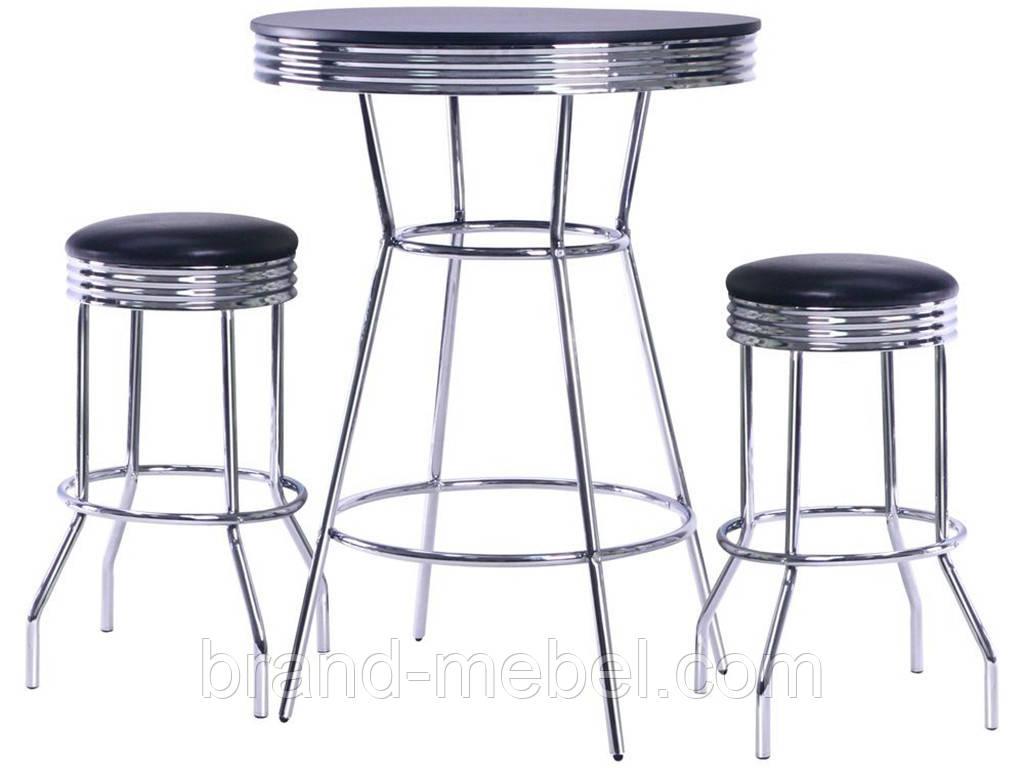 Комплект Roxy черный (стол барный + 2 стула)