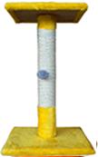 Когтеточка (9 цветов), сизаль, 40х35/35х30 см, высота 65 см жёлтый