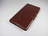 Чехол книжка кожаная коричневая на Xiaomi redmi note 3 / 3 pro