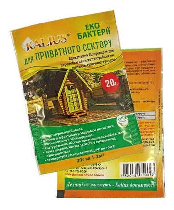 Биодеструктор Калиус / Kalius (20 г) - универсальный препарат для выгребных ям, септиков, уличных туалетов, фото 2