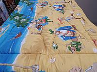 Одеяло стеганое чистая шерсть бязь ранфорс Пираты