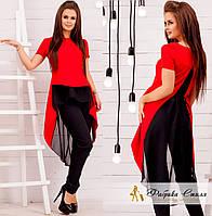 Женский костюм блузка-туника и штаны