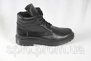 Ботинки кожаные мужские зимние, утепленные мехом