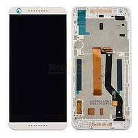 Дисплей (экран) для HTC Desire 626 Dual Sim + с сенсором (тачскрином) и рамкой белый