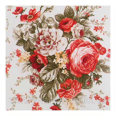 Ткань для штор розы красный