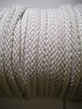 Шнур для одягу бавовняний, товстий, білий діаметр 8мм, фото 3