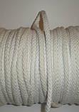 Шнур для одягу бавовняний, товстий, білий діаметр 8мм, фото 4
