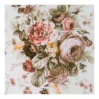 Шторная ткань с крупными розами с тефлоновой пропиткой Турция ширина 180 см Ткани для штор на отрез