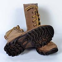 Демисезонні армійські  берци нового зразка з міцною підошвою, пісочного кольору (нубук), фото 1