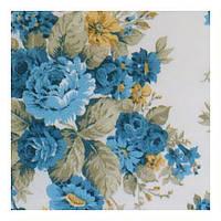 Шторы в стиле прованс с цветами синий