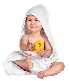 Детское полотенце для купания с капюшоном Желтое