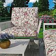 Цветочная ткань для штор малиновый, фото 2