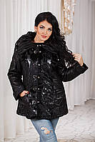 ДТ7090 Куртка-дубленка зимняя размер 52-54