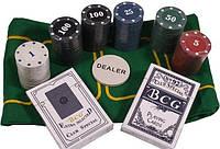 Набор для игры покер в металлической коробке 120 фишек Duke TC04120