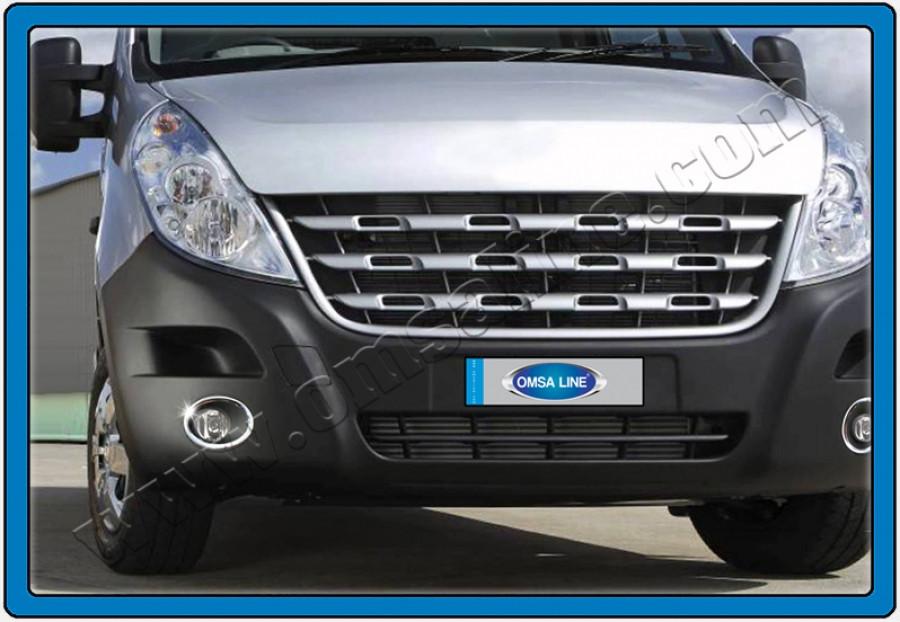 Накладки на противотуманки (2 шт, нерж.) - Opel Movano (2010+)