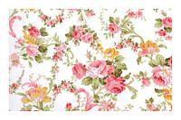 Цветочная ткань для штор малиновый