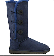 Угги с мехом  UGG Bailey Button Triplet Blue Оригинал