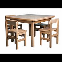 Детский стол и стул из дерева, фото 1