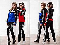 Женский спортивный костюм Адидас 2 цвета БАТАЛ