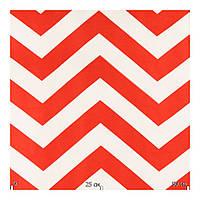 Шторная ткань зигзаг красно-белый с тефлоновой пропиткой Турция ширина 180 см Ткани для штор на метраж