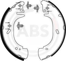 Барабанні гальмівні колодки (задні) Renault Master II 1998->2001 — ABS (Нідерланди) - ABS8941