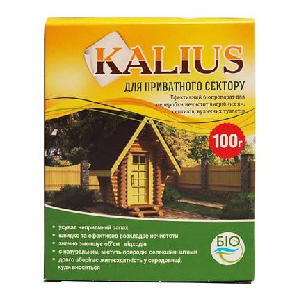 Биодеструктор Калиус / Kalius (100 г) — универсальный препарат для выгребных ям, септиков, уличных туалетов, фото 2