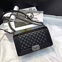 Кожаная сумка Шанель Бой Chanel Boy, 25  см