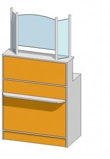 Рабочее (кассовое) место с стеклом (900х500х1736мм)